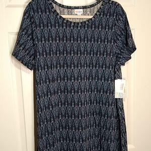 NWT XL LULAROE CARLY HI-LO SWING DRESS ~ CHEVRON